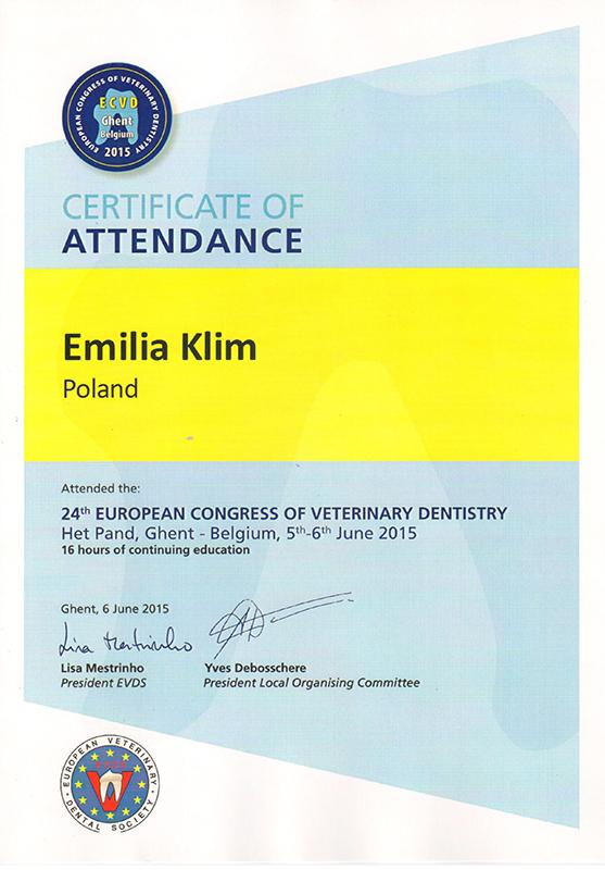 24th European Congress of Veterinary Dentistry 2015