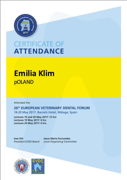 XXVI Europejski Kongres Stomatologii Weterynaryjnej w Maladze