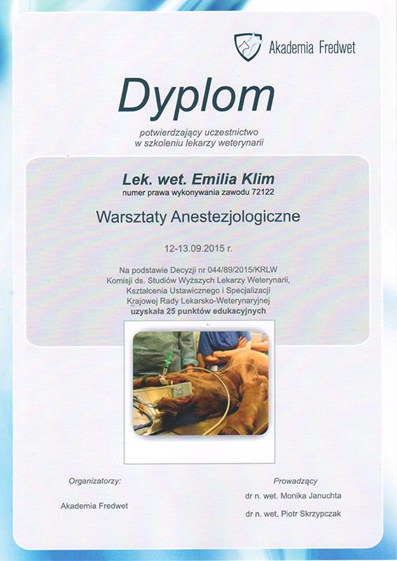 Warsztaty anestezjologiczne 2015