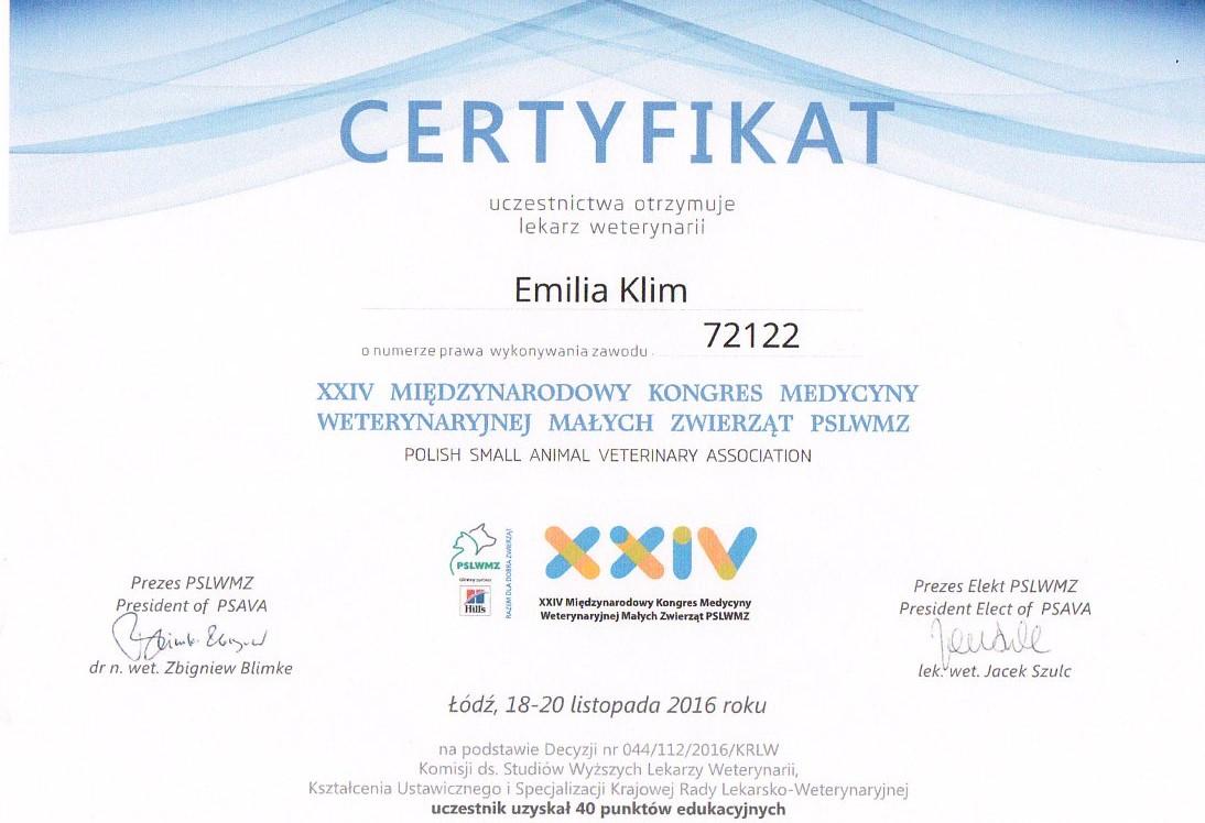 XXIV Międzynarodowy Kongres Medycyny Weterynaryjnej Małych Zwierząt PSLWMZ